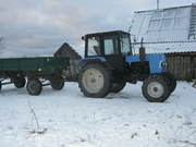 Трактор МТЗ-82 УК и прицеп 2ПТС-4.5
